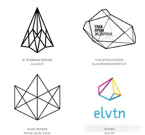 Geo Wires logo设计趋势
